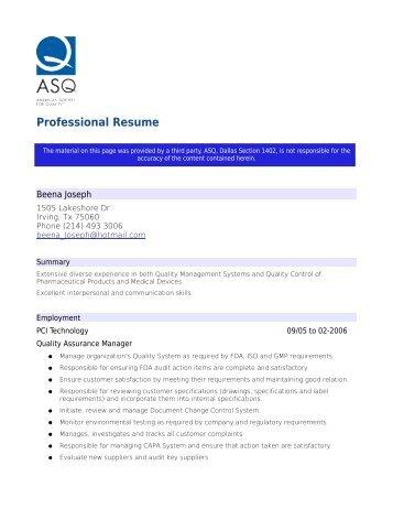 Beena_Joseph - ASQ Groups