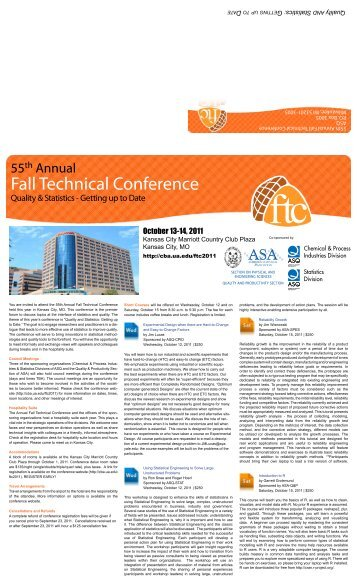 Fall Technical Conference - American Society for Quality
