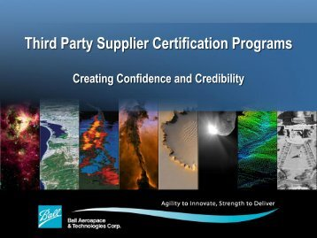 Third Party Supplier Certification Programs - American Society for ...