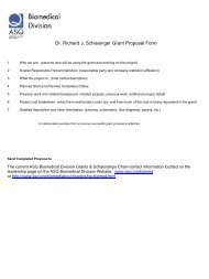 Dr. Richard J. Schlesinger Grant Proposal Form