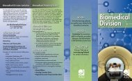 Biomedical Division Brochure