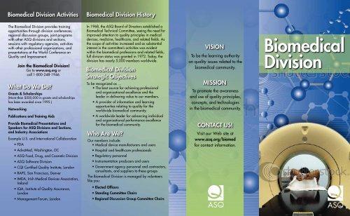 Biomedical Division Brochure