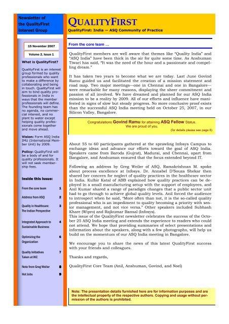 QualityFirst_v2_i1 - ASQ Groups