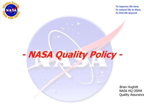 NASA Quality Policy - American Society for Quality