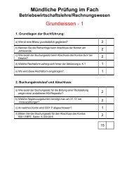 Mündliche Prüfung im Fach Grundwissen - 1 - Manfred Jahreis