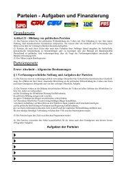 Parteien - Aufgaben und Finanzierung - Manfred Jahreis