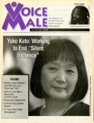 WINTER 1999 The Magazine of the Men's Resource Center of ...