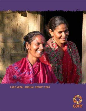 CARE NEPAL ANNUAL REPORT 2007