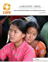 Women's Meaningful Participation in Peacebuilding and Governance