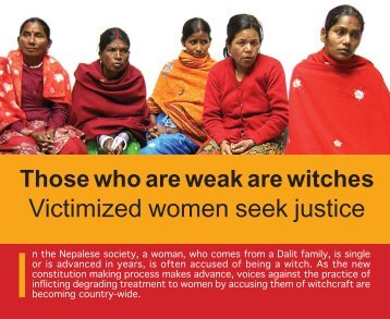 Accused Witchcraft - Care Nepal