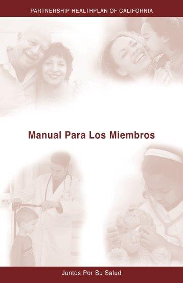 Manual del Miembro - Partnership HealthPlan of California