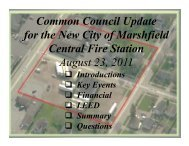 Common Council Update for the New City of Marshfield Central Fire ...