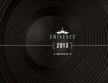 2013 USA Catalog - Eminence Speaker