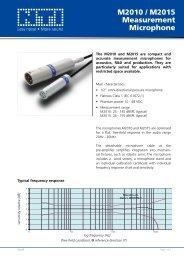 M2010 / M2015 Measurement Microphone - Kinovox