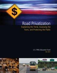 Road Privatization - US PIRG