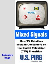 Retailers Sending Mixed Signals to Consumers - US PIRG ...