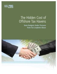 The Hidden Cost of Offshore Tax Havens: State Budgets ... - US PIRG