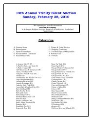 2010 Auction Catalog - Trinity Preschool