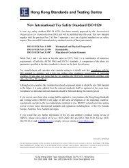 New International Toy Safety Standard ISO 8124