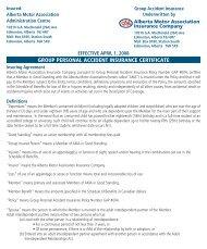 group personal accident insurance certificate - Alberta Motor ...