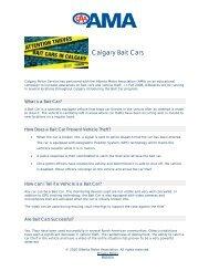 Calgary Bait Cars - Alberta Motor Association