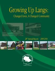 Changed Lives, A Changed Community - Langs Farm Village ...
