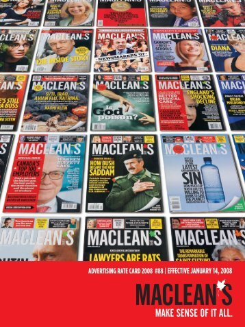 ADVERTISING RATE CARD 2008 #88 | EFFECTIVE ... - Maclean's