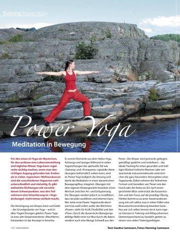 Power Yoga - Sandra Cammann