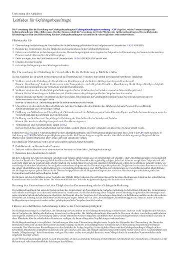 Leitfaden für Gefahrgutbeauftragte - Weka Media