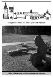 Friedhofssatzung - Evangelisch-lutherische Kirchengemeinde ...