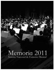 Memoria del Sistema Nacional de Fomento Musical