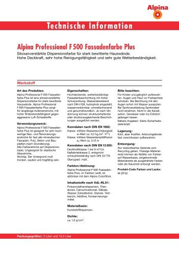 Technische Information - Alpina