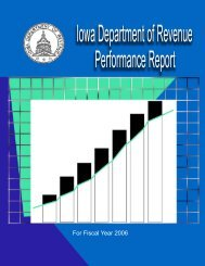 Iowa Department of Revenue FY06 Performance Report