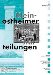 Amtsblatt Nr. 27 vom 05.07.2013 - Kleinostheim