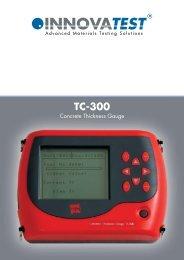 TC-300 Series - Concrete Thickness Gauge - Bowers UK