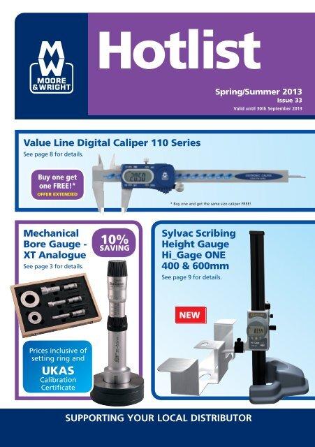 1-2 25-50mm Value Line Digital External Micrometer Moore /& Wright 200 Series