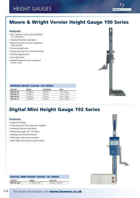 Stainless Hardened Steel 20/'/' Vernier Height Gage
