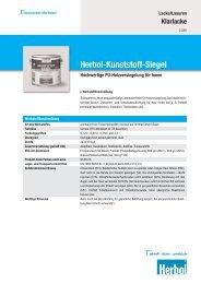 Herbol-Kunststoff-Siegel