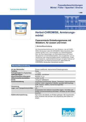 Herbol-CHROMISIL Armierungs- mörtel