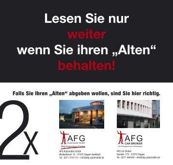 """Lesen Sie nur weiter wenn Sie ihren """"Alten"""" - AFG Automobile GmbH"""