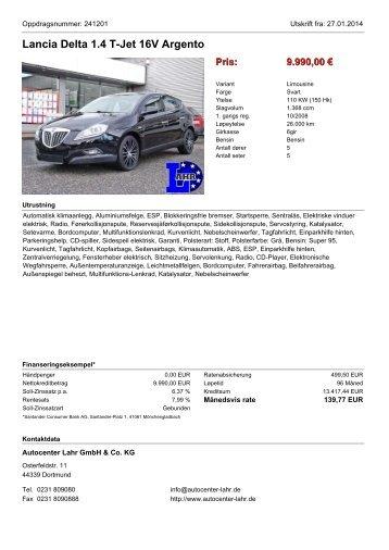 Fahrzeug-Exposé - Autocenter Lahr GmbH & Co. KG