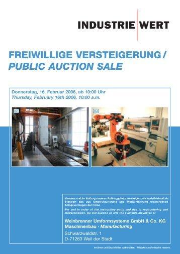 Katalog Weinbrenner - IndustrieWert GmbH
