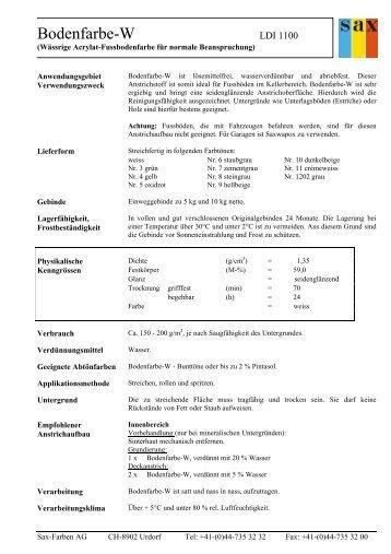 Bodenfarbe-W - Sax-Farben AG