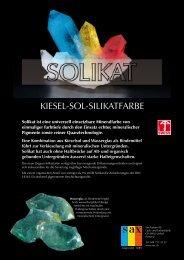 KIESEL-SOL-SILIKATFARBE - Sax-Farben AG