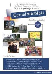 Gemeindeblatt Ausgabe 1/2011 - Ev.Kirche Home