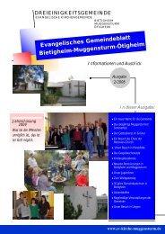 Besuch bei der evangeli- schen Kirche der Part ... - Ev.Kirche Home