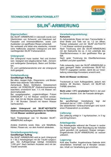 ARMIERUNG, Rissesanierung.dot - Silin-Fachberatung