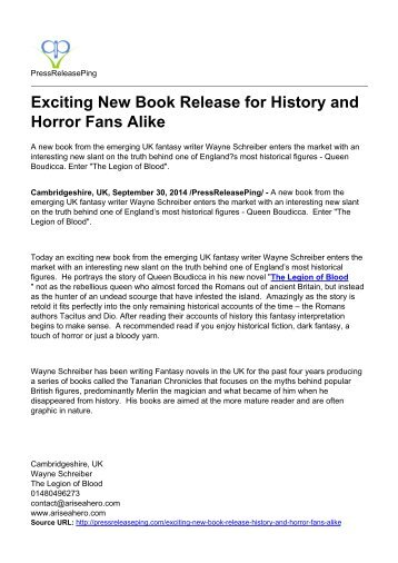 Exciting New Book Release for History and Horror Fans Alike
