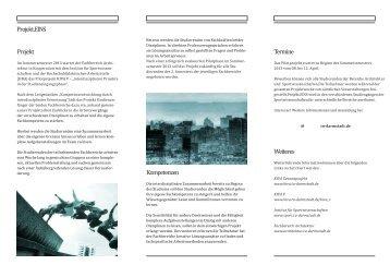 Projekt Termine Weiteres Kompetenzen Projekt.EINS - Institut für ...