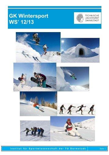 Grundkurs Wintersport - Institut für Sportwissenschaft